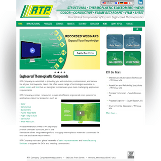 RTP Company - Your Global Compounder of Custom Engineered Thermoplastics