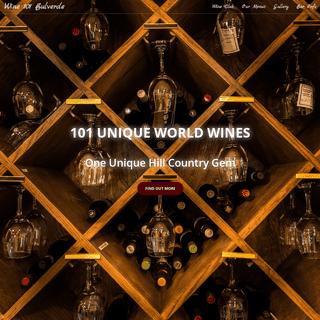 Wine 101 - Bulverde