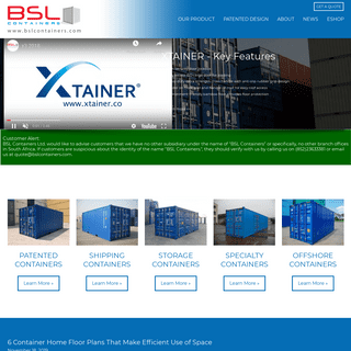 ArchiveBay.com - bslcontainers.com - Shipping Container Manufacturers - BSL Containers