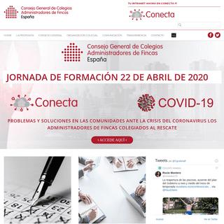 Consejo General de Colegios de Administradores de Fincas de España - Web Oficial del Consejo General de Colegios de Administrad