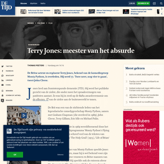 Terry Jones- meester van het absurde - De Tijd