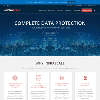 Data Protection Solutions - Backup Disaster Recovery - Cloud DR - Infrascale