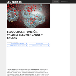 ArchiveBay.com - leucocitos.info - LEUCOCITOS » FUNCIÓN, VALORES RECOMENDADOS Y CAUSAS
