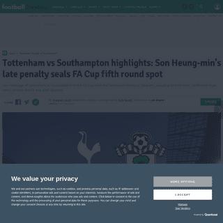 Tottenham vs Southampton highlights- Son Heung-min's late penalty seals FA Cup fifth round spot - football.london