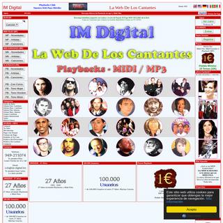 IM DIGITAL - La Web de los CANTANTES - Venta Midi Files Playbacks MP3 Midi Karaokes Letras Canciones Gratis