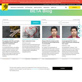 BETA Blog Blog - HIV news & information - San Francisco AIDS Foundation