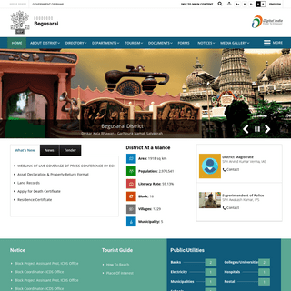 District website of Begusarai - Contents of Begusarai District - India