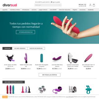 Sex shop online y Tienda erótica - Diversual.com