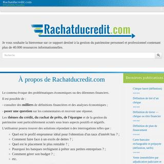 Encyclopédie financière - Rachatducredit.com