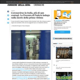 Coronavirus in Italia- i nuovi casi e le ultime notizie - Corriere.it