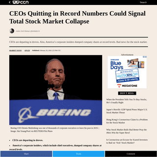 CEOs Quitting in Record Numbers Could Signal Total Stock Market Collapse
