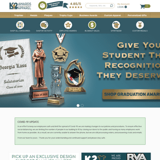 Trophies & Awards - Custom Trophies & Personalized Plaques at K2 Awards & Apparel