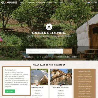 Glamping -Boek nuje luxe kampeervakantievoor 2020!