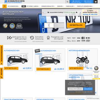 Kfz Kennzeichen günstig online bestellen - Gratis Versand