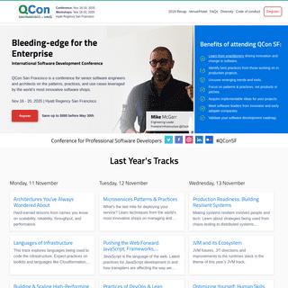 QCon San Francisco - November 16-20, 2020 - Software Architecture Conference