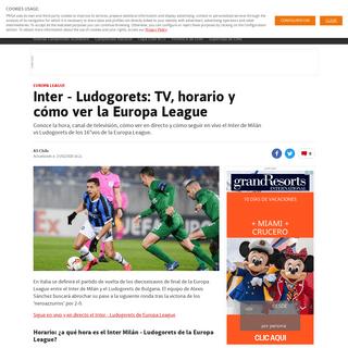 Inter - Ludogorets- TV, horario y cómo ver la Europa League - AS Chile