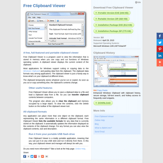 Free Clipboard Viewer for Windows - Download