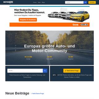 MOTOR-TALK - Europas größte Auto- und Motor-Community!