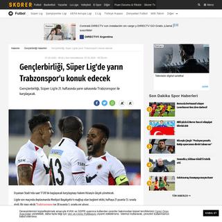 Gençlerbirliği, Süper Lig'de yarın Trabzonspor'u konuk edecek - Gençlerbirliği - Spor Haberleri