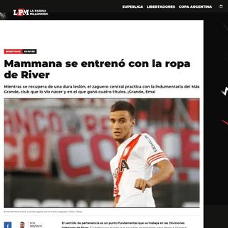 Mammana se entrenó con la ropa de River - River Plate - La Página Millonaria