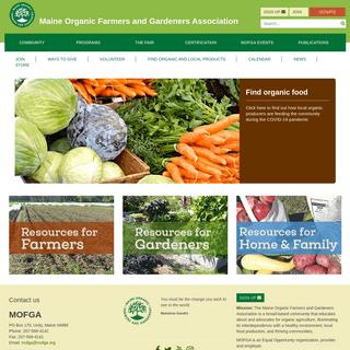 Maine Organic Farmers and Gardeners Association