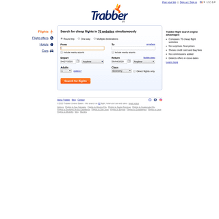 Trabber - Cheap Flights Search Engine