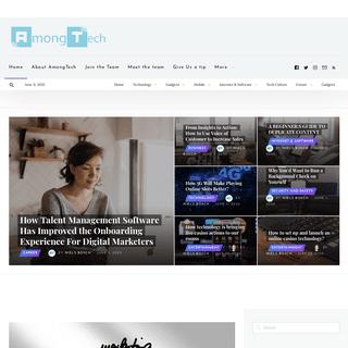 AmongTech - Daily blog posts on technology trends