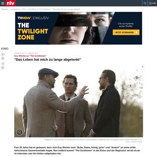 Guy Ritchie zu -The Gentlemen-- -Das Leben hat mich zu lange abgelenkt- - n-tv.de