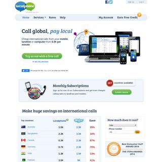 Cheap International Calls - Localphone