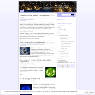 ArchiveBay.com - cienciaamateur.wordpress.com - Ciencia Amateur - 'El deleite de saber es adictivo… pero también debería ser contagioso.' jorge johnson