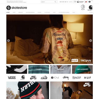 Skatestore - The leading online skateshop.