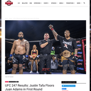 UFC 247 Results- Justin Tafa Floors Juan Adams in First Round