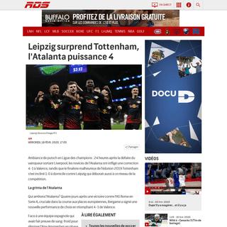 ArchiveBay.com - www.rds.ca/soccer/europe/ligue-des-champions/soccer-ligue-des-champions-leipzig-surprend-tottenham-l-atalanta-puissance-4-1.7239274 - Soccer Ligue des champions - Leipzig surprend Tottenham, l'Atalanta puissance 4 - RDS.ca