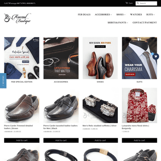 Russul Boutique- Classic mens online clothing store in Lagos,Nigeria.