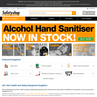 UK's No1 Health and Safety Equipment Suppliers - Safetyshop