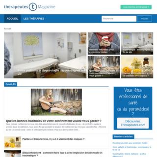 Therapeutes magazine - Le mag des thérapeutes