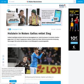 Holstein Kiel in Noten- Özcan und Serra treffen für die Kieler Störche