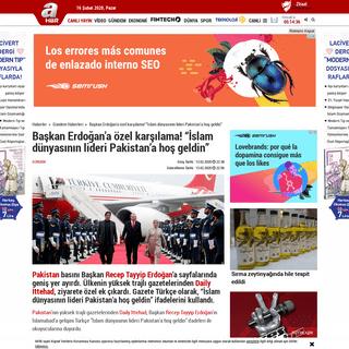 """ArchiveBay.com - www.ahaber.com.tr/gundem/2020/02/13/baskan-erdogana-ozel-karsilama-islam-dunyasinin-lideri-pakistana-hos-geldin - Başkan Erdoğan'a özel karşılama! """"İslam dünyasının lideri Pakistan'a hoş geldin"""""""