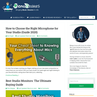 Piano Dreamers - Digital Piano & Keyboard Reviews, Guides and Tips