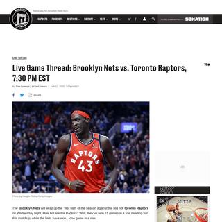 Watch Live- Brooklyn Nets vs. Toronto Raptors, 7-30 PM EST - NetsDaily
