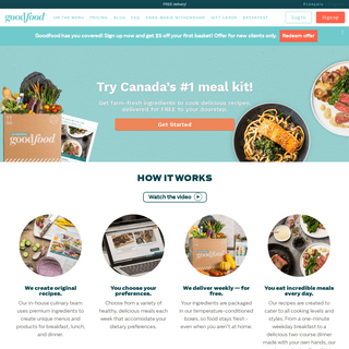Goodfood -- Meal Kit Delivery - Food Recipe Box Delivery