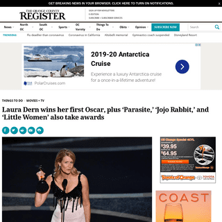 ArchiveBay.com - www.ocregister.com/laura-dern-wins-her-first-oscar-plus-parasite-jojo-rabbit-and-little-women-also-take-awards - Laura Dern wins her first Oscar, plus 'Parasite,' 'Jojo Rabbit,' and 'Little Women' also take awards – Orange Coun