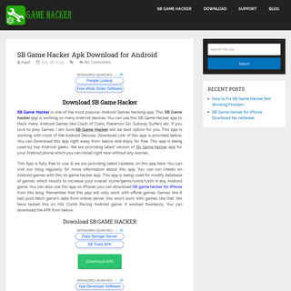 SB Game Hacker Download [Android 4.0-8.1 Support]