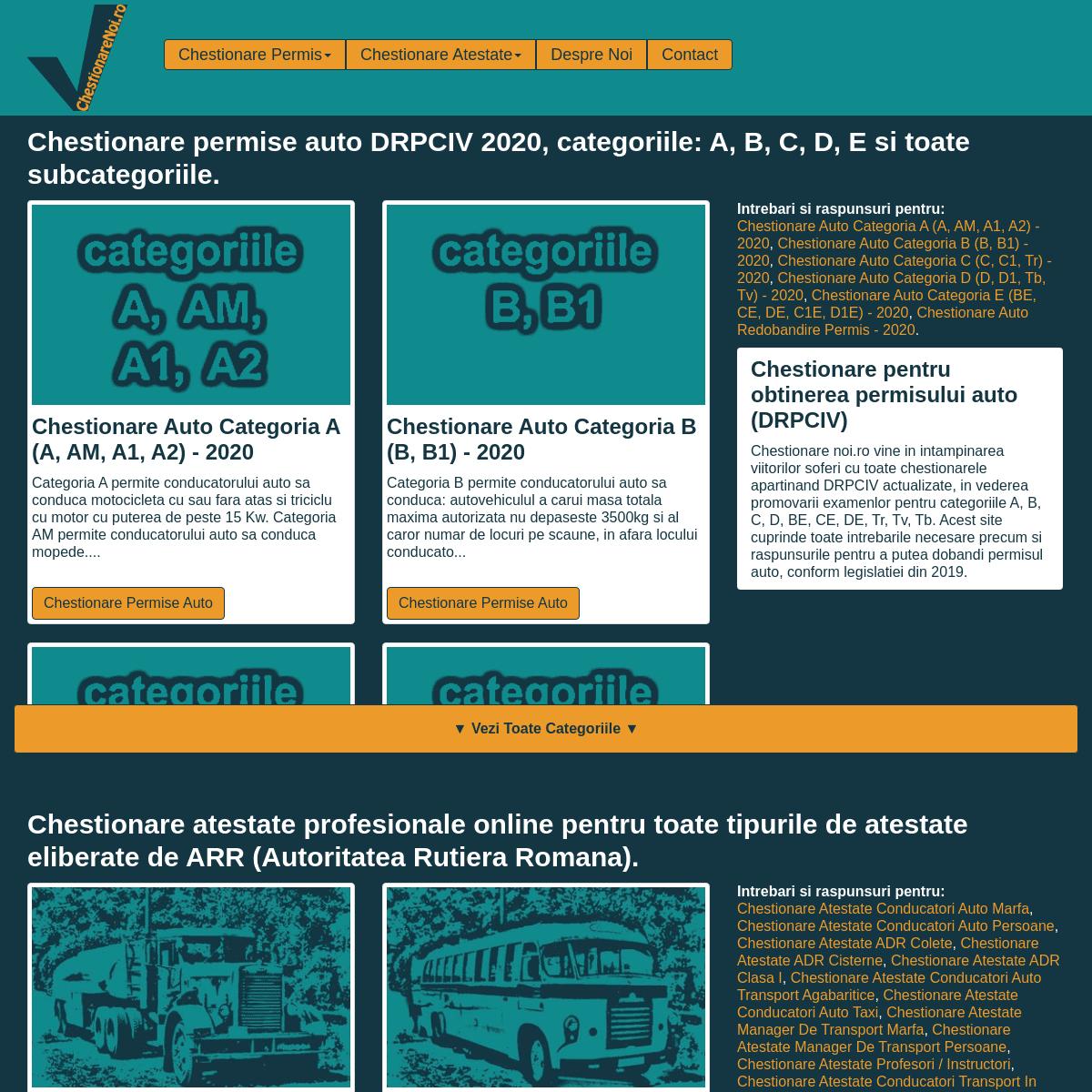 Chestionare Atestate Profesionale Auto Online - ChestionareNoi.ro