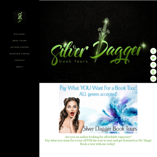 Silver Dagger Book Tours - Welcome!