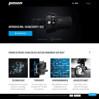 PINION - DRIVE TECHNOLOGY - - bicycle gearboxes – made in germany