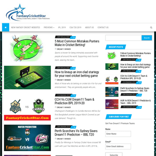 Fantasycricketstar- Dream11 Team Prediction, Playing11 - Dream11 Fantasy Cricket