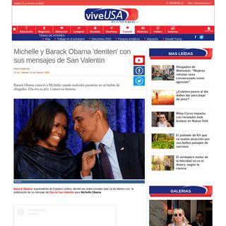 ArchiveBay.com - www.viveusa.mx/noticias/michelle-y-barack-obama-derriten-con-sus-mensajes-de-san-valentin - Michelle y Barack Obama 'derriten' con sus mensajes de San Valentín