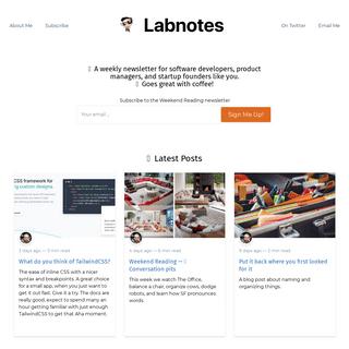 Labnotes (by Assaf Arkin)