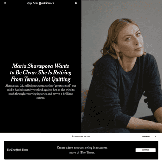 ArchiveBay.com - www.nytimes.com/2020/02/26/sports/maria-sharapova-retires.html - Maria Sharapova Wants to Be Clear- She Is Retiring From Tennis, Not Quitting - The New York Times